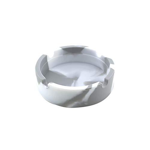 KANCK Multicolor Eco-Friendly Silicone Soft Ronda Cenicero Ash Bandeja Tenedor Plumático Portátil Anti-Scalding Holder Hot B
