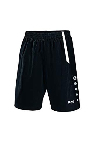 JAKO Herren Sporthose Turin, schwarz/weiß, L