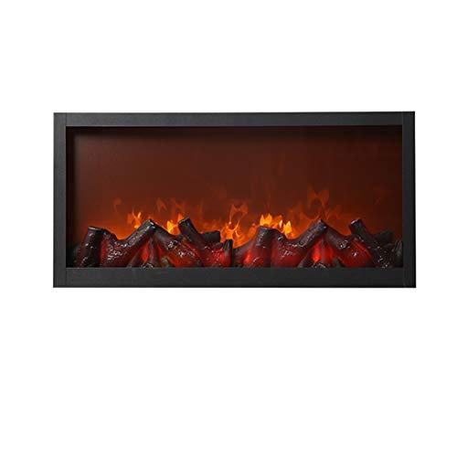 Lumière de flamme décorative de cheminée, cheminée électrique encastrée intégrée, avec ensemble de bûches effet décoratif brûlant à la flamme-pas de chauffage, pour la décoration de bureau à domicile