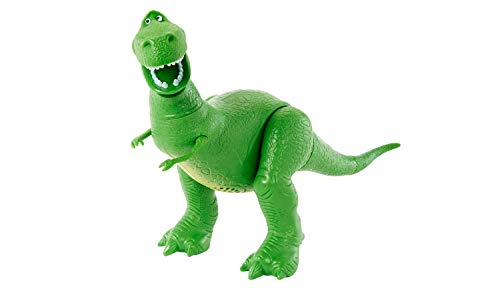 Disney Pixar Toy Story 4 True Talkers Rex Figure, 7.8' Tall Posable, Talking Character Figure with Authentic Movie-Inspired Look and 15+ Phrases