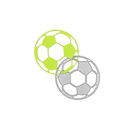 Fußball-Metall-Stanzform, Fußball-Stanzschablone, Stanzschablone, Stanzschablonen, Formen, Scrabooking-Zubehör für Einladungskarten, Papierbasteln, Umschläge, Verzierungen, DIY-Fotoalbum