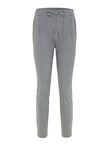 Vero Moda NOS Damen Hose VMEVA MR LOOSE STRING PANTS NOOS Grau (Medium Grey Melange), 38W / 30L (Herstellergröße: Medium)