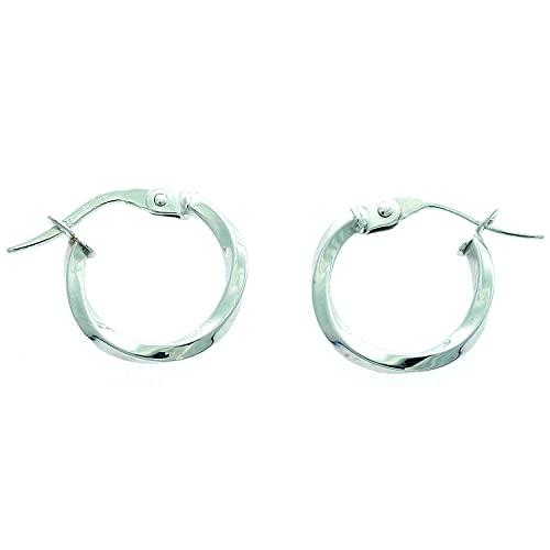 Boucles d'oreilles créoles torsadées or 9 carats 10 mm