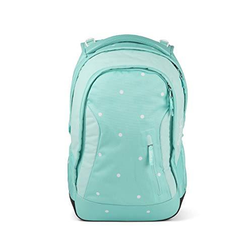 satch Sleek Mint Confetti, ergonomischer Schulrucksack, 24 Liter, extra schlank, Türkis