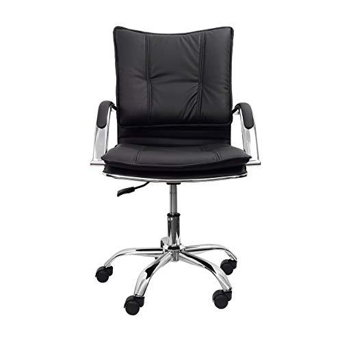 Cadeira Escritório Giratória Desenho Italiano Trevalla CDE-29-1 Preta