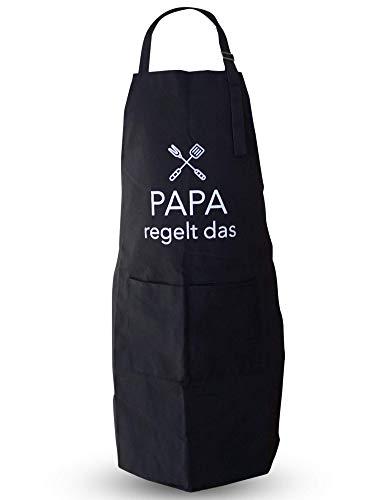 EliXito® Witzige Grillschürze für Männer - Grill Geschenk für Vatertag - Kochschürze/Küchenschürze 100% Baumwolle