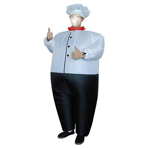 DXQDXQ Traje Gaint nico Disfraces Cocinero Inflables Contiene Sombrero Adultos Despedida de Soltero Fiesta Halloween Carnaval Fancy Dress Cosplay Gracioso Traje Inflable Atuendo