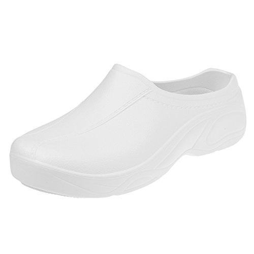 Par de Zapatos Zuecos Medical Hopital Mulas Strapless Accesorio Ropa Hombre Mujer - Blanco, 41