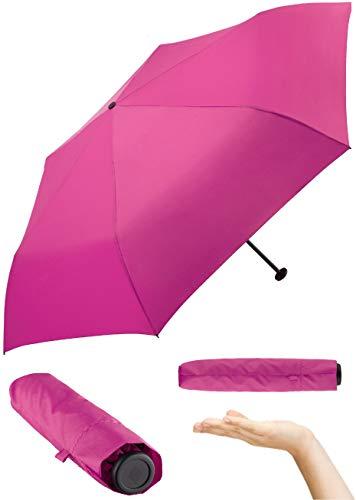 FARE Ultraleichter Mini-Taschenschirm Filigrain Only95 - Mit nur 95 Gramm der leichteste Regenschirm am Markt; Packmaß nur 20cm; perfekt für Jede Handtasche (Magenta)