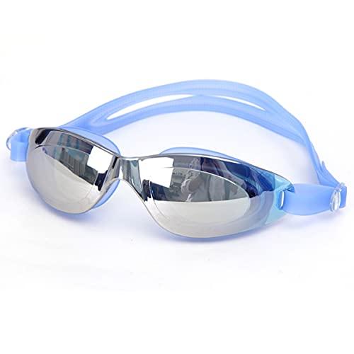 LIMESI Gafas de Natación Polarizadas HD Gafas Nadar Unisex Ninguna Fuga Anti Niebla Protección UV Gafas de Protección con Correa de Espejo Ajustable Ajuste Cómodo-Blue