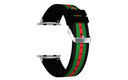 BUY-TO Correa de Reloj Deportivo Pulsera de Moda Adecuado para Relojes Apple Iwhtch Serie 1/2/3/4 Universal 38/40/42 / 44mm