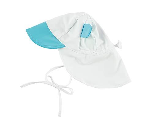 Cuddle Club Baby Erstausstattung Verstellbarer Sonnenhut für Babys und Kinder | LSF 50+ Ganztägiger UV-Schutz für Kopf und Nacken - SunhatBearBlueL