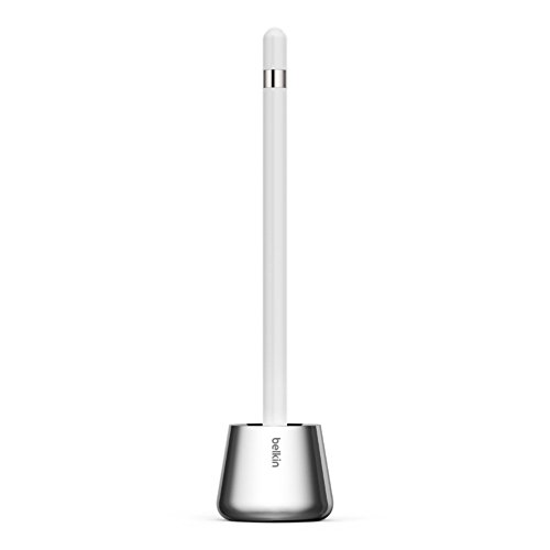 Belkin Stylus Stand and Base for Apple Pencil - Retail Packaging - Silver