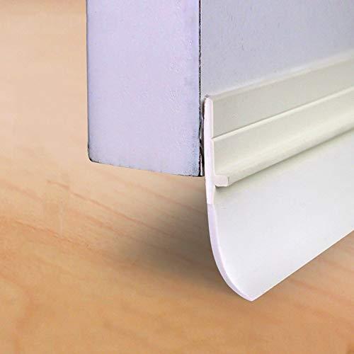 Dichtungs Streifen Türzugstopper, Schalldichte winddichte Anti-Kakerlake Selbstklebender Türbodenstreifen, Weiß, Geeignet zum Abdichten von Lücken: 3-28 mm