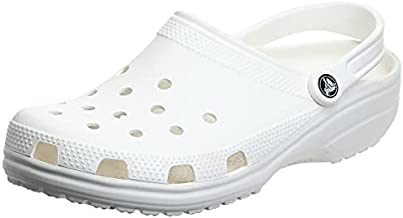 Crocs Unisex Men's and Women's Classic Clog, White, 5 US