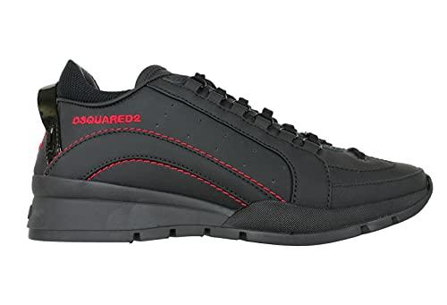 dsquared Zapatillas de hombre Lace-up Low Top Sneaker 551 SNM050530800001M002, color negro Negro Size: 42.5 EU