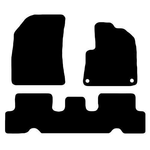 Carsio CARP-CUT-3523-(85 x 2) Alfombrillas de Coche a Medida para Citroen C4 Picasso 2014 en adelante, Juego de 3 Piezas con 2 Clips