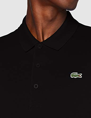 Lacoste Men's DH2881 Polo Shirt, Black/Black, L