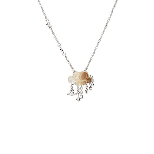 Vivienne Westwood Cloud Tassel Silver Necklace with Special Packing Box and Paper Bag