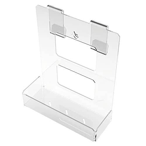 Portasapone doccia in plexiglass con 2 porta asciugamani - Mensola per doccia da appendere