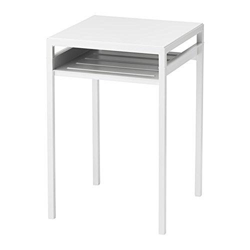 IKEA/イケア NYBODA:サイドテーブル/リバーシブルテーブルトップ ホワイト/グレー (403.426.43)の写真