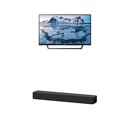 Sony KDL-40WE665 102 cm (40 Zoll) Fernseher (Full HD, Triple Tuner, Smart-TV) Plus HT-SF200 2.1 Kanal kompakte TV Soundbar (Home Entertainment System, HDMI, Bluetooth, USB, Surround Sound) schwarz