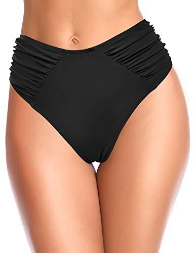 SHEKINI Bikini para Caminar Abdominal De Cintura Alta para Mujer Trunks De RecoleccióN En La Parte Inferior Bikini En Forma De V Bragas De Playa De Doble Secado De Secado RáPido