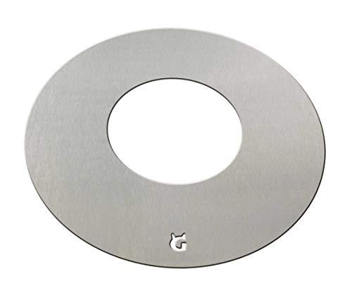 Feuerplatte/Grillring/Grillplatte/Grill für Feuertonne Stahlfässer Stahltonne Kugelgrill (Feuerplatte Ø 54,5 cm für 57er Kugelgrill)