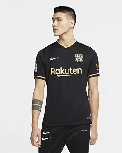 NIKE FCB M NK BRT Stad JSY SS AW T-Shirt, Hombre, Black/Metallic...
