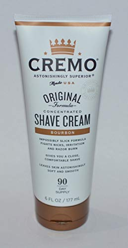 Cremo Concentrated Shave Cream -Bourbon Full Size 6 fl. oz.-Made in the USA