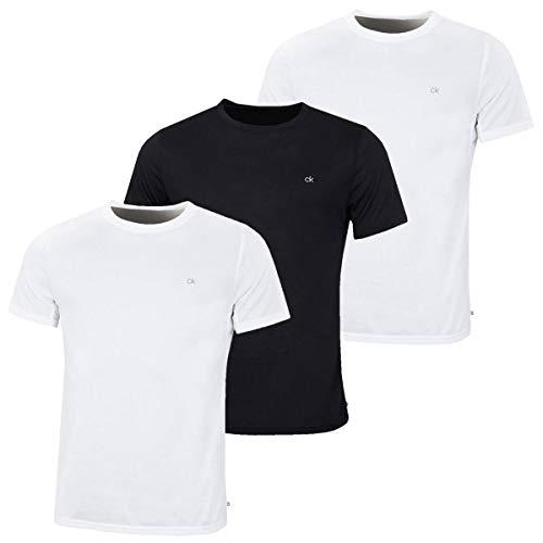 Calvin Klein Mens 3 Pack T Shirt 2 White 1 Black XL