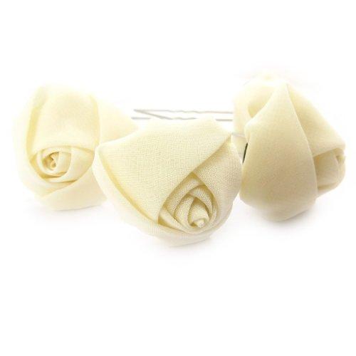 Les Trésors De Lily [K1532] - Set de 4 picots à chignon 'Scarlett' beige