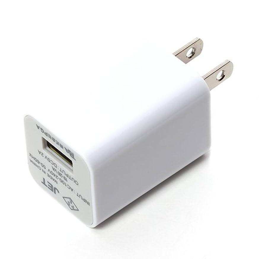 警告アミューズメント罰するiCharger USB電源アダプタ 2A ホワイト PG-2ACUS02WH PG-2ACUS02WH