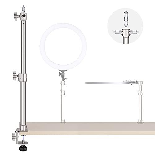 Neewer Support de Bureau, Support de Montage de Table réglable en Alliage d'aluminium C-Clamp avec Adaptateur pour éclairage annulaire/vidéo/Panneau Lumineux/Appareil Photo Reflex numérique