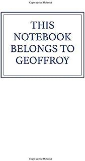 This Notebook Belongs to Geoffroy
