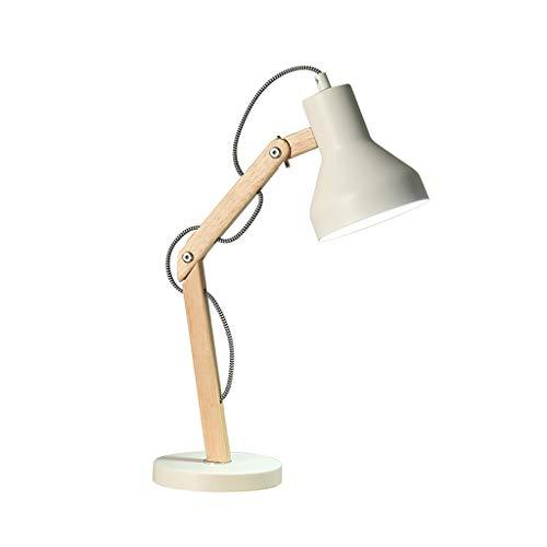 Lámpara Escritorio Lámpara de mesa creativa nórdica Dormitorio LED Estudio Trabajo de oficina Lámpara de mesa de lectura Una variedad de colores disponibles Lamparilla de noche ( Color : White )