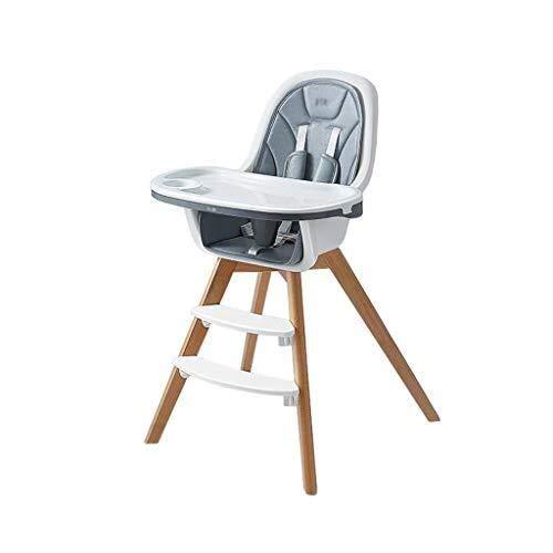 YDHYYDQCFJL Baby Kinderstoel - Baby Eetstoel Baby Kinderstoel Houten Verstelbare Verwijderbare Voedsellade Voeding Stoel