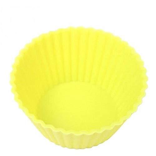 Yuxahiugxlg Gâteau Silicone Moule Muffin Cupcake Plats de Cuisson Formulaire Pan Cuisson au Four Dessert Outils de décoration ustensiles de Cuisson Cuisine Salle à Manger Bar (Color : Yellow)