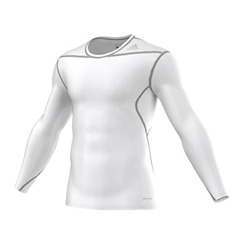 adidas Techfit Base T-Shirt Manches Longues Homme, Blanc/Blanc, FR (Taille Fabricant : XL)