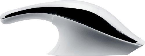 Alessi - Akkusauger/Handstaubsauger - Kunststoff/Edelstahl - Weiss - (HxBxL) 14x 11,5 x 38,5cm