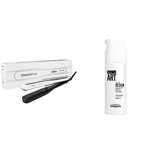 L'Oréal Professionnel SteamPod Styler 3.0 x Tecni.ART Fix Design Haarspray | Pflegeset für langanhaltendes Styling