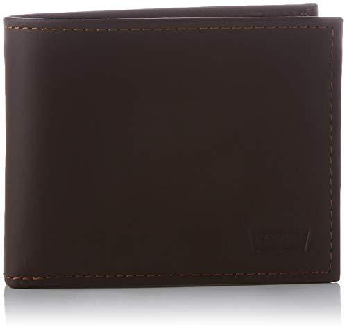 Levi's Casual Classics Hunte Coin Bifold-Batwing, Accesorio de Viaje-Billetera Plegable para Hombre, marrón Oscuro, UN