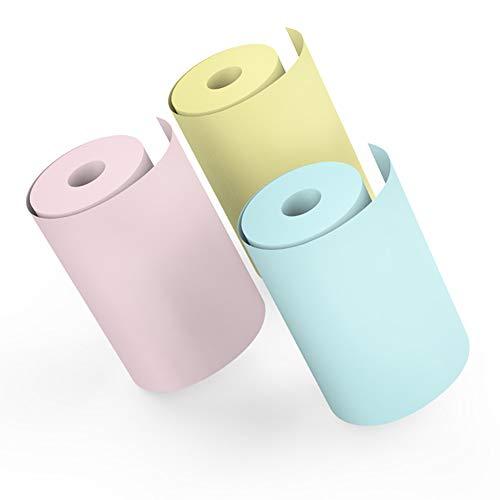 Thermisch papier voor mini-printers Mallalah fotopapier, bluetooth, draadloos, draagbaar, in wit en kleur, 3 rollen, 57 x 25 Kleur: zwart/bruin,
