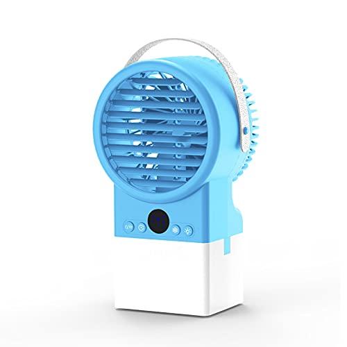 OMVOVSO Mobile Klimaanlage, Mini-Klimaanlage Wassertank, 3-Fach Verstellbar, Geeignet Für Schlafzimmer/Zimmer/Wohnzimmer/Küche/Kinderzimmer,Blau