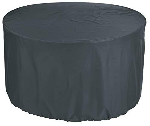 NMYYV Premio de la Cobertura de Compra Pirata Redonda Mantel Ø 110x75 cm Muebles de jardín Silla de jardín Mesa y la Tela de Polvo Patio Mesa Redonda 600D Oxford Antracita Material Impermeable