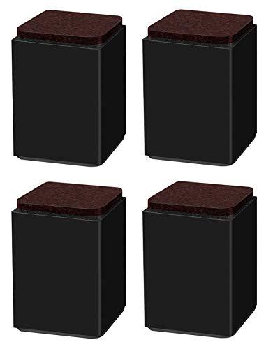 Insun 4er Set 10.2 cm Höhe Möbelerhöhung aus Karbonstahl Selbstklebende Möbelfüße für Bett Stuhl Schreibtisch Tisch
