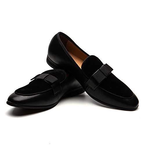 JITAI Scarpe da Uomo in Pelle con Motivo Stampato Scarpe da Uomo con Mocassino Slip-on Pantofola per Fumatori Fannullone Casual