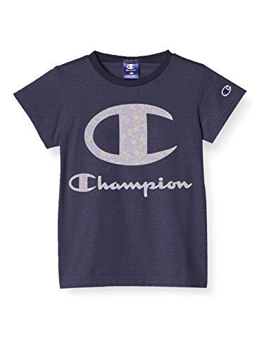 [チャンピオン] Tシャツ スクリプトロゴ ガールズ スポーツ CK-TS331 ネイビー 140