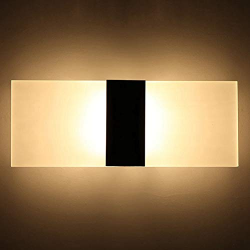 Aplique de Pared LED, Lámpara Decorativa de Interior de Acrílico, Luces Modernas Simples para Pasillo de Cabecera Baño Tienda Bar...