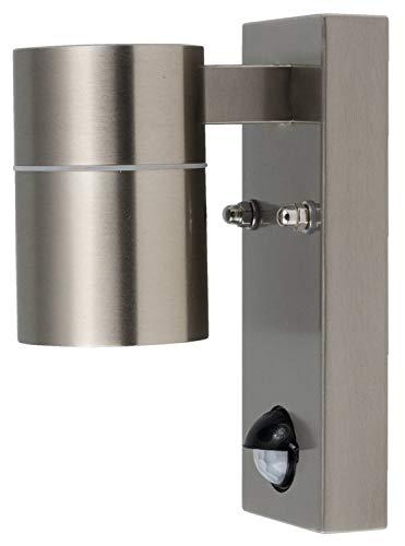 HEITRONIC Wandleuchte GRENADA mit Bewegungsmelder als UP- / Downlight mit GU10-Fassung für Leuchtmittel mit max. 35W 1-flammig, H = 163mm